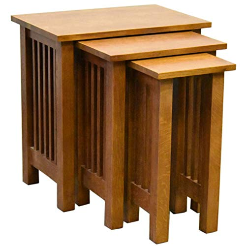Mission Oak Nesting Table - Crafters and Weavers Mission Oak Nesting Tables - Set of 3