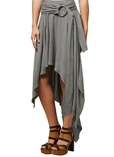 Hot CA Mode Women Summer Beach Casual Daily Asymmetric Dress Irregular Skirts for cheap