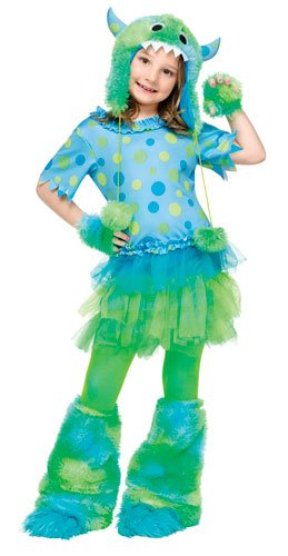 [Monster Miss -4-6] (Sully Monsters Inc Costumes)