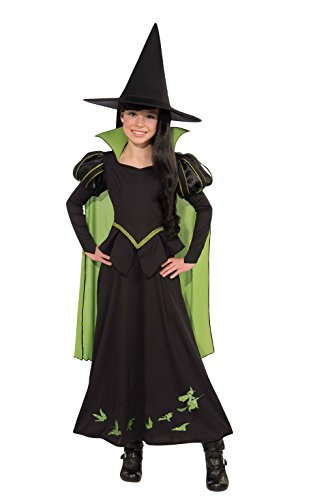 Girls Wizard Costumes (Wizard of Oz Wicked Witch of The West Costume, Medium One Color)