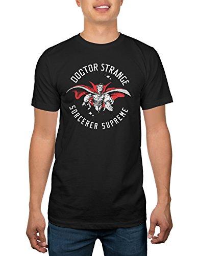 Doctor Strange Sorceror Supreme Adult T Shirt   Black  Large