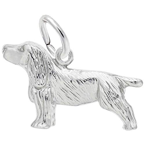 Rembrandt Charms Springer Spaniel Charm, Sterling Silver