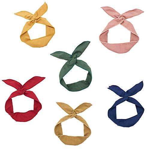 Twist Bow Wire Headbands 6...