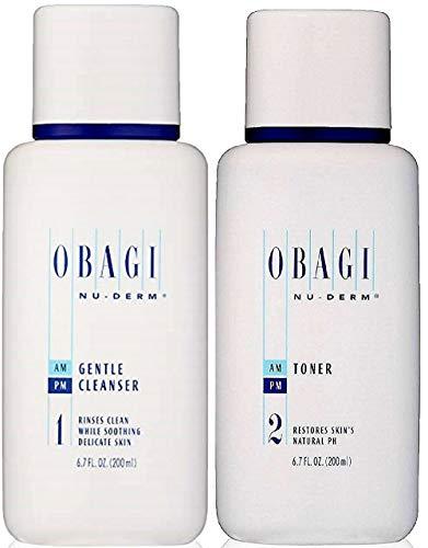 Duo Set Nu Derm Gentle Face Cleanser 6.7 Oz Facial Skin Toner 6.7 oz ()