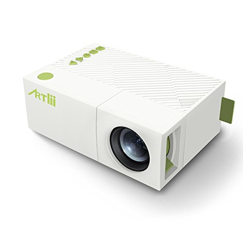 Mobile projector artlii mini portable projector for iphone for Best mini projector for powerpoint presentations