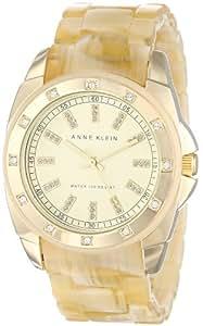 Anne Klein Women's 10/9988CHHN Swarovski Crystal-Accented Horn Resin Bracelet Watch