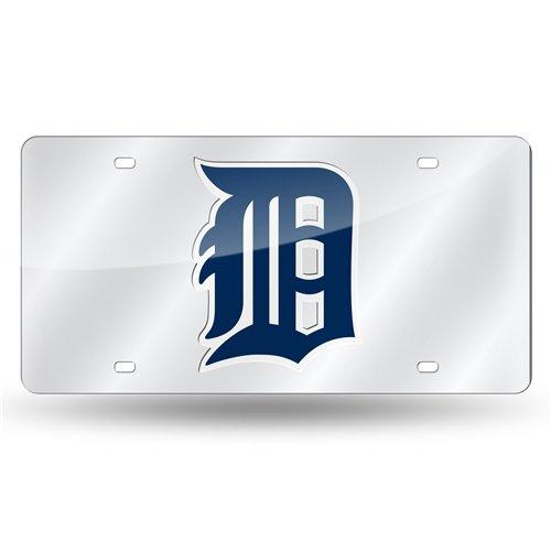 Rico MLB Detroit Tigers Laser Cut License Plate, Silver