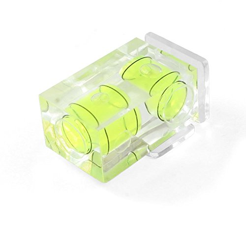 Driak Hot Shoe Two Axis Double Bubble Spirit Level For Canon Nikon Pentax (Double Spirit Level)