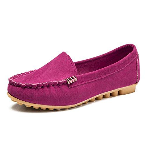 TPulling Herbst Und Winter Frühling Modelle Schuhe Mode Damen Frau Feste Farbe Bequeme Flache Einzelne Schuhe Peas Schuhe Wärme Outdoor Booties Ankle Lässige Schuhe Martin Stiefe Pink