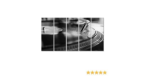 islandburner Cuadro Cuadros Reproductor de Vinilo, tecnología de Sonido analógico para DJ Que Reproduce música Digital, Primer Equipo de Audio para ...