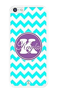 MMZ DIY PHONE CASEiZERCASE Personalized Black Turquoise and White Chevron Pattern with Purple Circle RUBBER iphone 5/5s case - Fits iphone 5/5s T-Mobile, AT&T, Sprint, Verizon and International (White)