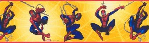 Marvel Spiderman Yellow Web Wallpaper Wall Border