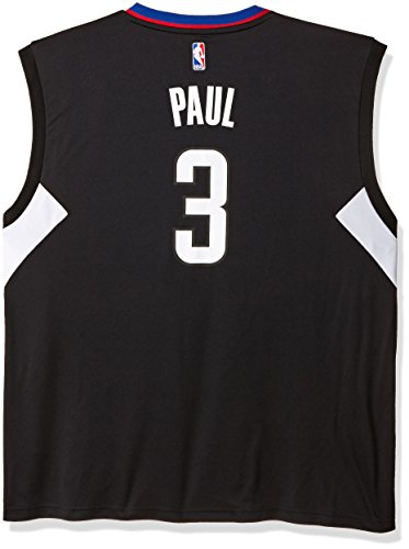 NBA Los Angeles Clippers Chris Paul #3 Men's Replica Alternate Road Jersey, 3X-Large, Black ()