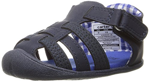 Carter's Every Step Stage 1 Girl's and Boy's Crawling Shoe, Addison, Navy, 2.5 M US Little Kid