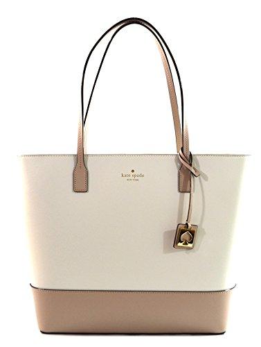 Kate Spade Karla Beech Street Smooth Leather Tote Shoulder Bag Purse Handbag  Cream Beige