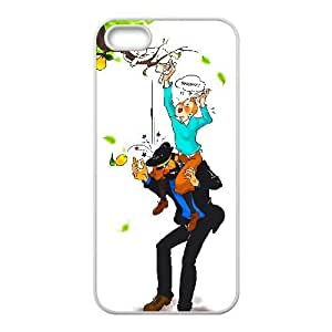Generic for iPhone 5 5s Cell Phone Case White The Adventures of Tintin Custom HFOKHJHLK3840