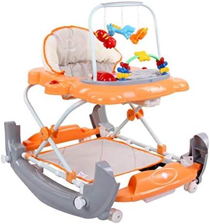 SunBaby Walker Babywalker Gehfrei Gehhilfe Lauflernwagen Melodie Schaukel Wiege orange