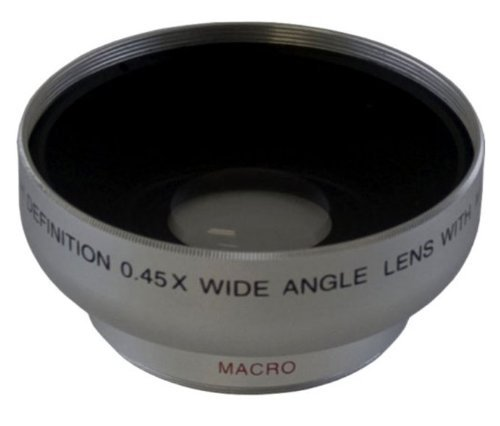 High Definition 0.45x Wide angle Lens 43mm For Canon HFM52 HFM50 HFM500 HFM400 HFM40 HFM41 by Crystal Optics