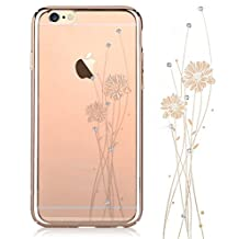 Iphone 6 Plus,Iphone 6s Plus Case ,Comma Cystal Ballet Design Case, Beautiful Design (Champagne Gold - Ballet)