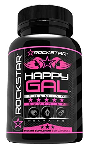 - Rockstar Happy Gal Supplement, Serotonin Production, Anxiety, Stress, Depression Relief, Supports Relaxation, 60 Count