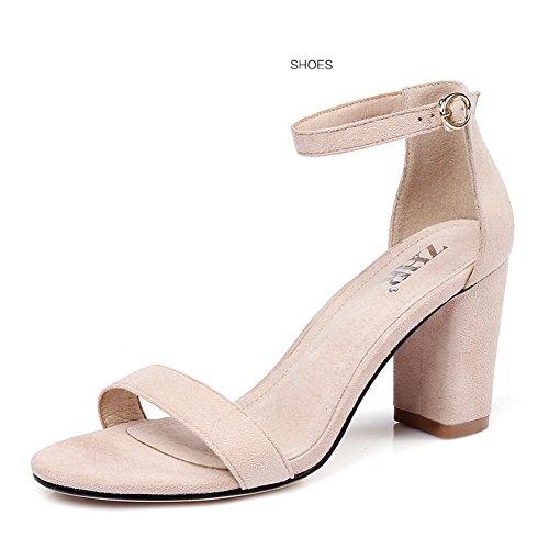 Chunky B Banda zapatos zapatos De Coreana Negros Mujeres Sandalias Cuñas Mujer Casuales Altos Tacones Versión La las Zapatos Tacón U46Hwqx