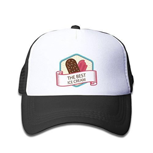 Stylewe Baseball Caps Popsicle Ice Cream With Hexagon Pattern Black White Hat