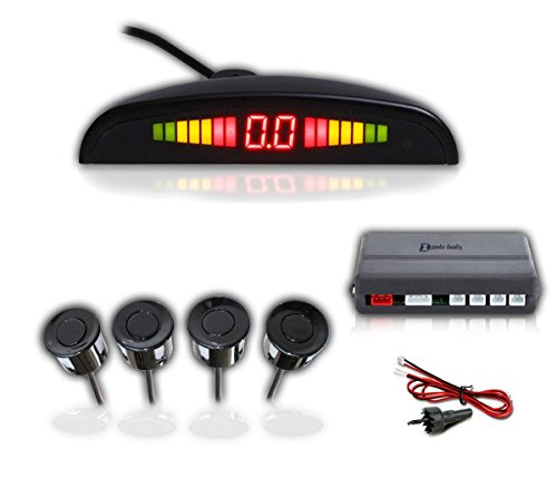 Zento Deals Reverse Backup Warning Radar System with LED Display- High-Volume Warning Buzzer 4 pcs Ultrasonic Sensors