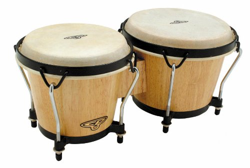 Latin Percussion CP221-AW Traditional Wood Bongos - - Bongos Wood