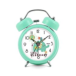 Baidercor Twin Bell Alarm Clock with Nightlight Little Elephant 3""