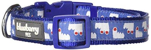 Blueberry Pet 3/4-Inch Happy Pooch Fingers Up Basic Polyester Nylon Dog Collar, Medium