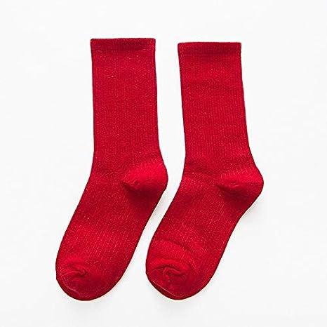 WAESRD Calcetín de algodón para Mujer Calcetines de Mujer Otoño 1 ...