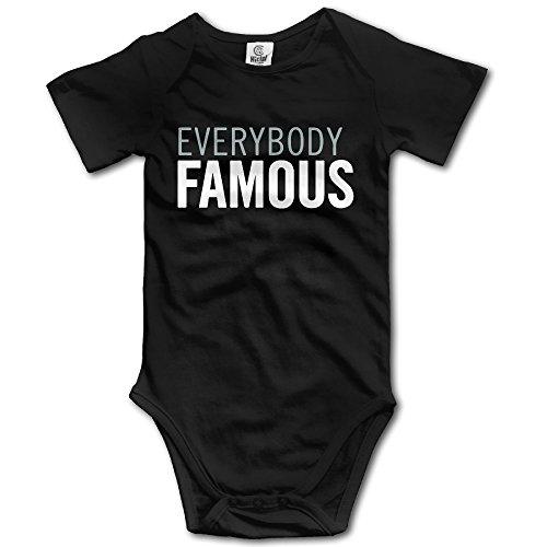 Everybody Famous Slogan Wordmark Infant Baby Onesie Bodysuit