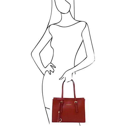 Rosso Tuscany Pelle A Tracolla Saffiano Tl Leather Borsa Tl141518 Bag In xg6wvBx