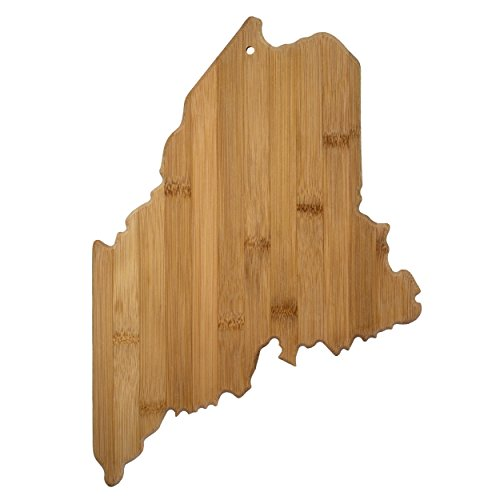 Totally Bamboo State Cutting & Serving Board, Maine, 100% Bamboo Board for Cooking and Entertaining