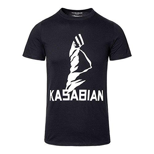 Official Unisex-adults Kasabian Ultra Face Tour T Shirt (black) - Small -