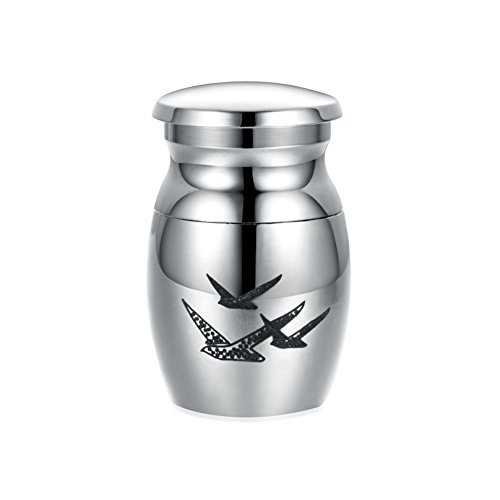 Nature Jar Urn - Sunling Small Decorative Memorial Keepsake Cremation Urns Jar for Human Pet Ashes-Waterproof Stainless Steel,Keep Love Forever