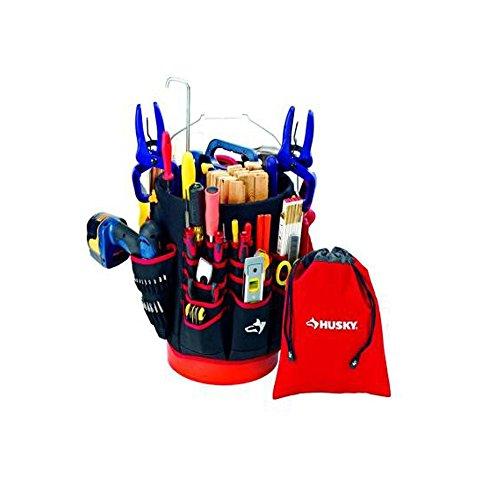 Husky Bucket Jockey & Drawstring Bag Tool Organizer Combo