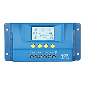 Decdeal Auto LCD Solar Charge Controller Load Battery Regulator Dual USB 5V Output Overload Protection