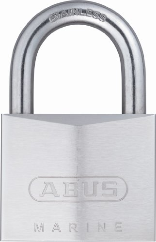 - ABUS 75/50 All Weather Chrome Plated Brass Keyed Different Padlock - Stainless Steel Shackle