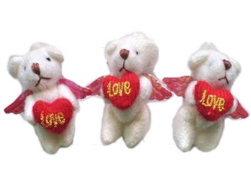 Wholesale 20pcs FLY Bear baby toys coffee Plaid bear Teddy bear flush baby toys RED (Flush Teddy Bear)