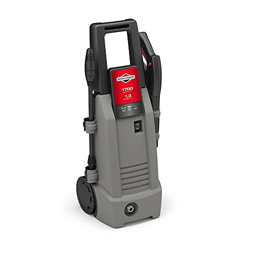 Briggs & Stratton Electric Pressure Washer 1700 PSI 1.3 GPM with 26' High-Pressure Hose, Turbo Nozzle & Detergent Injection Briggs And Stratton Pressure Washer