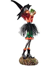 Charming Witch Dolls, Beautiful Witch Figurine, Halloween Resin Witch Figures Decor, Lovely Witch Toy Collectibles Doll Bedroom Desktop Decoration Ornaments