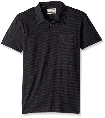 Billabong Men's Classic Polo Shirt, Black Heather, L