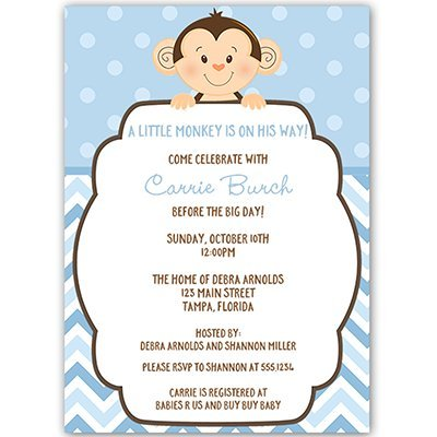 Amazon Com Little Monkey Baby Shower Invitations Sprinkle