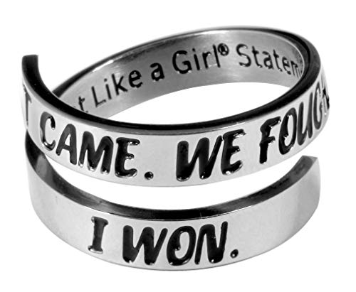 It Came. We Fought. I Won. Survivor Ring Stainless Steel Open Wrap Size 9