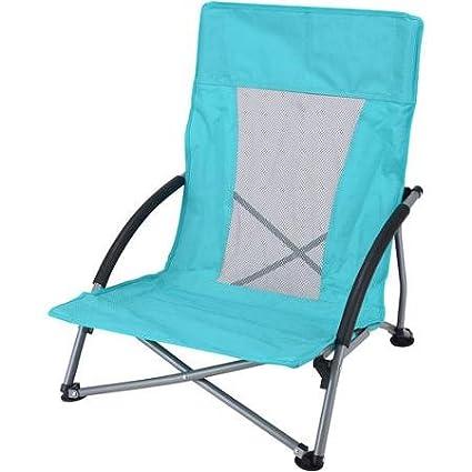 Amazon.com: Ozark Trail silla de perfil bajo, color turquesa ...