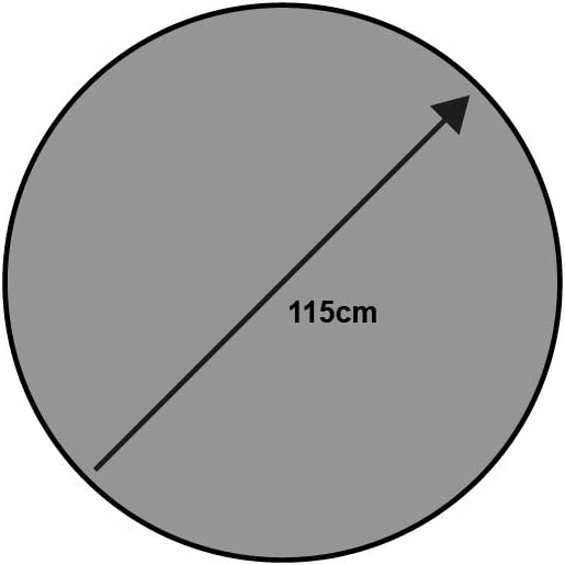 Wash Dry Tapis Rond Gris 115 cm