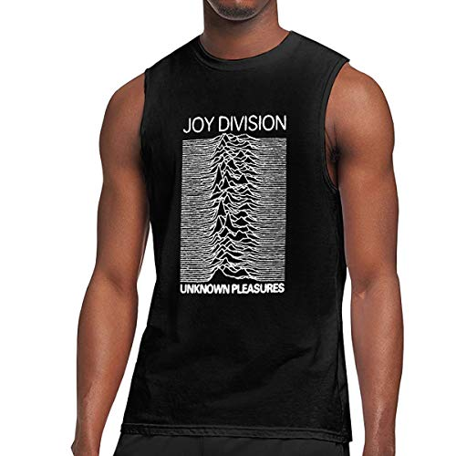KABASHIJI Joy-Division-Unknown-Pleasures Men's Tank-Top Sleeveless T Shirt 100% Cotton Bodybuilding Tshirt Black M