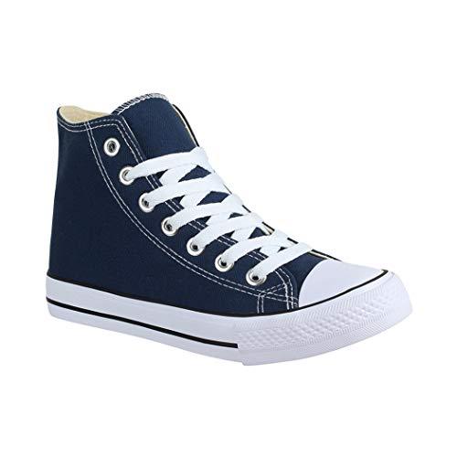 Dunkelblau Sneaker Textil Kult Unisex Basic Schuhe Damen chunkyrayan Bequeme Top Für Sportschuhe Herren Und Elara High q4TH6wEw