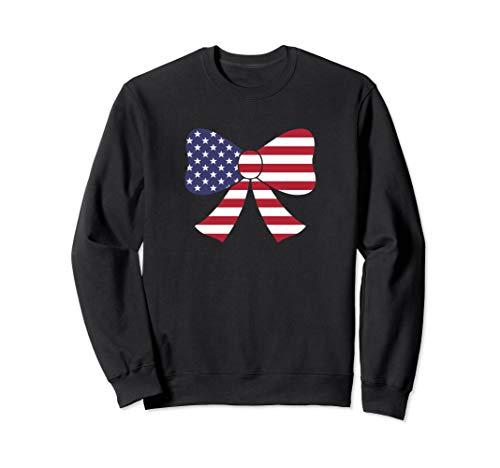 Bow Tie American Flag USA Sweatshirt